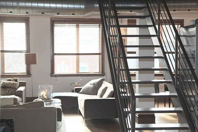 geverfde trap